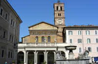 The Santa Maria Church in Trastevere area - 10 minutes by Tram