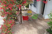 Schattenplatz auf der Terrasse