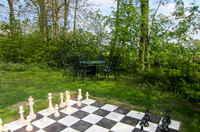 schaakspel in de tuin